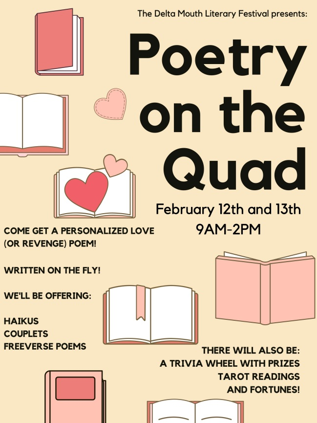 Valentines Day poetry on the quad